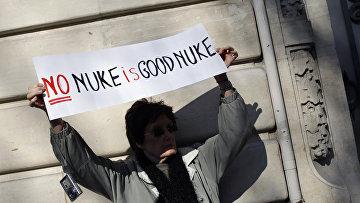 Протест против ядерного оружия в Париже
