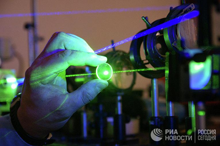Работа лаборатории лазерных измерений в Институте систем обработки изображений РАН в Самаре