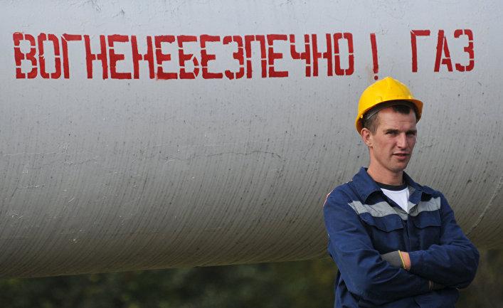 Газовый трубопровод в Закарпатской области Украины