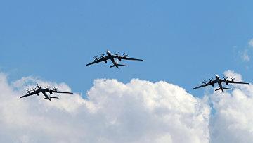 Самолеты Ту-95МС ВВС РФ