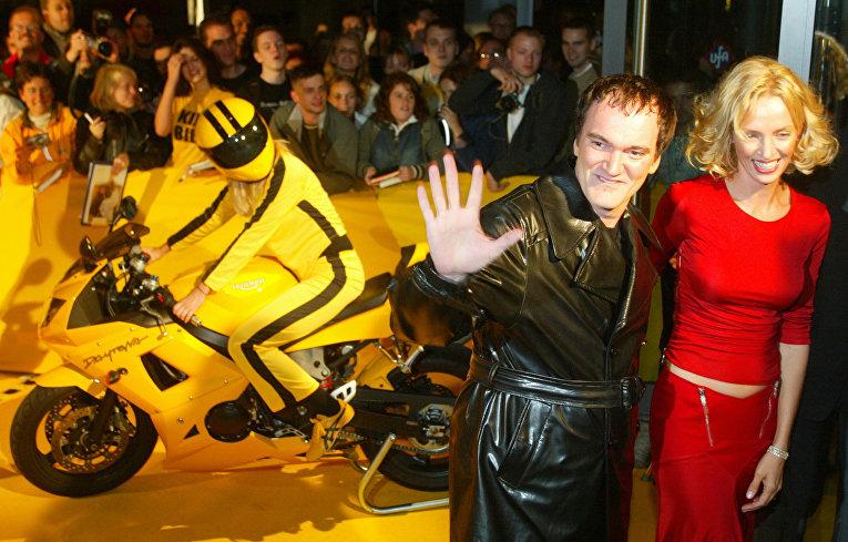 Квентин Тарантино иУма Турман наевропейской премьере «Убить Билла» вБерлине, Германия