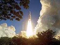 Старт ракеты Ariane 5 ECA в Куру, Французская Гвиана