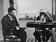 Писатели А.П. Чехов и Л.Н. Толстой в Гаспре (Крым)