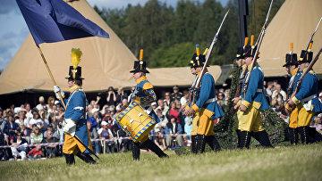 Солдаты шведской армии времен Северной войны, историческая реконструкция