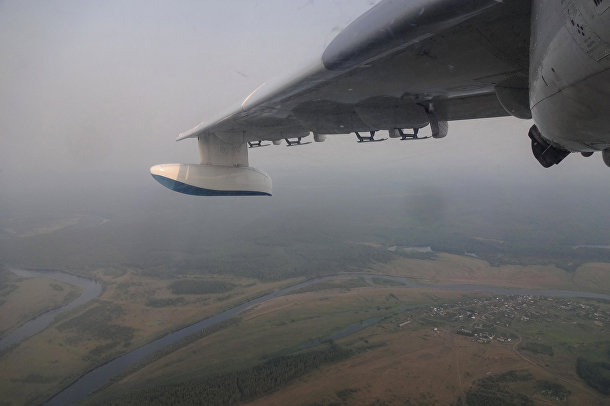 Тушение лесных пожаров в Крпасноярском крае