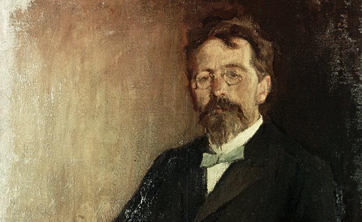 Портрет писателя Антона Чехова
