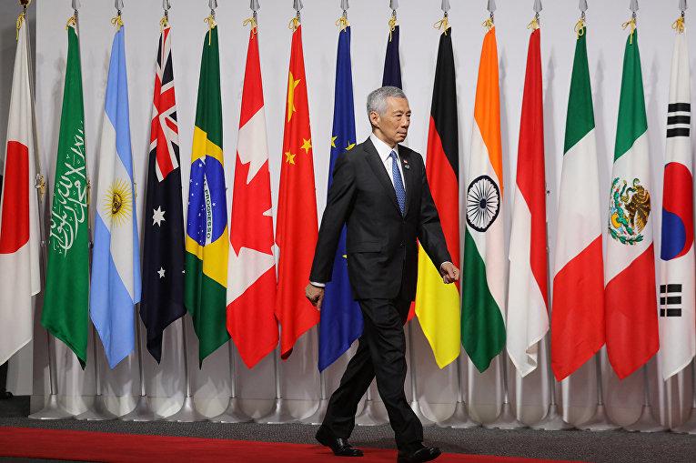 Премьер-министр Сингапура Ли Сянь Лун на саммите G20 в Осаке