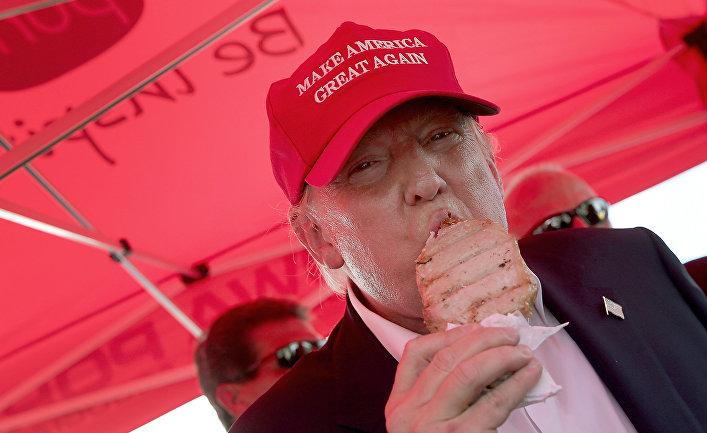 Дональд Трамп на продуктовой ярмарке