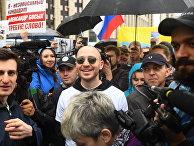 Акция в поддержку незарегистрированных кандидатов в Мосгордуму