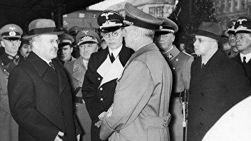 14 ноября 1940. Вячеслав Молотов и Иоахим фон Риббентроп