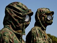 Военнослужащие специальных войск РХБЗ