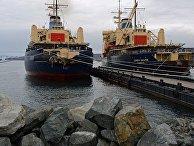 """Ледокол """"Красин"""" завершил навигацию в восточном районе Арктики, во время которой осуществлял проводку судов по трассе Северного морского пути."""