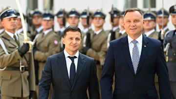 Президент Польши Анджей Дуда и президент Украины Владимир Зеленский в Варшаве