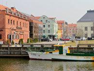 Набережная реки Дане в Клайпеде, Литва