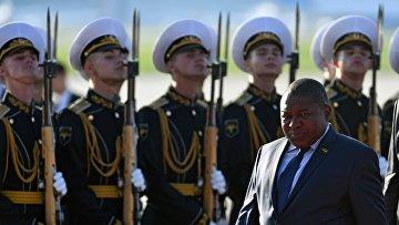Прилет президента Мозамбика Филипе Жасинто Ньюси в Москву
