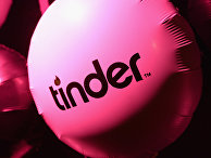 Воздушный шар с логотипом Tinder