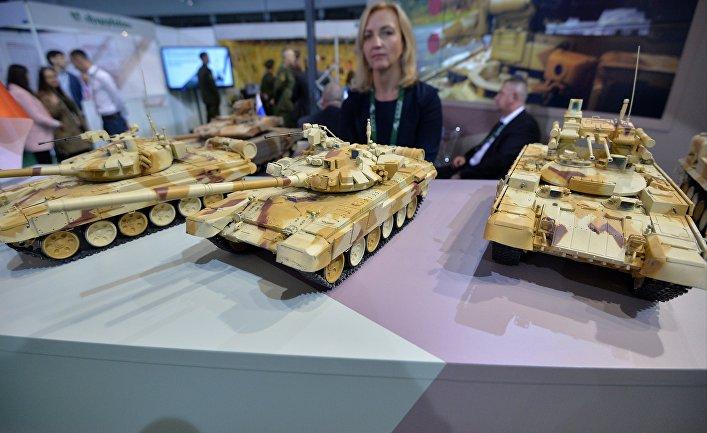 Макеты продукции НПК «Уралвагонзавод» на выставке MILEX-2019 в Минске