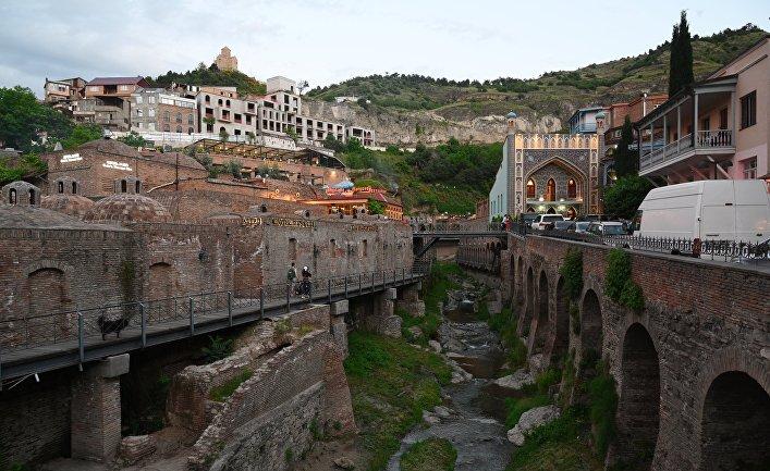 Исторический район Абанотубани в центре Тбилиси
