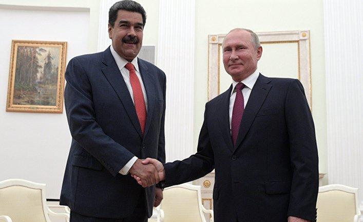 Встреча президента РФ В. Путина с  президентом Венесуэлы Н. Мадуро