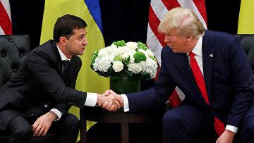 Президент Украины Владимир Зеленский и президент США Дональд Трамп
