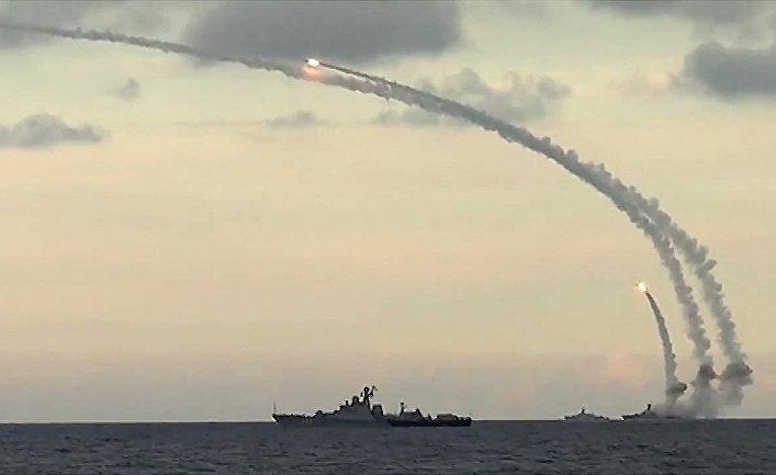 Ракетные корабли наносят массированный удар