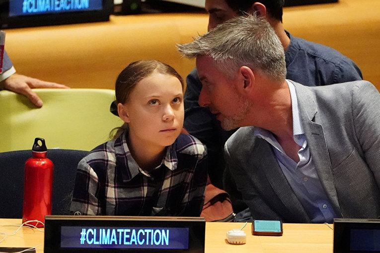 Шведская экологическая активистка Грета Тунберг