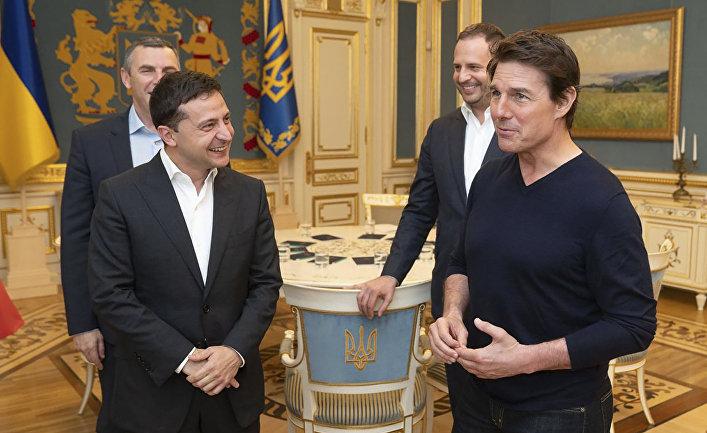 Президент Украины Владимир Зеленский и американский актер Том Круз