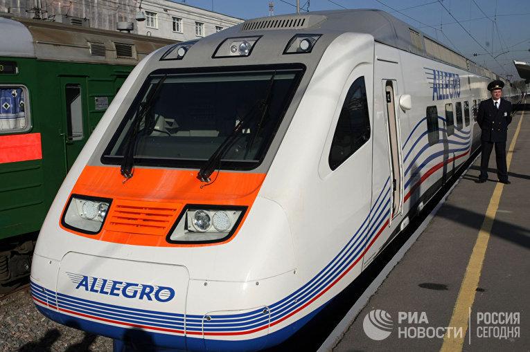 """Презентация скоростного поезда """"Аллегро"""" Санкт-Петербург - Хельсинки"""