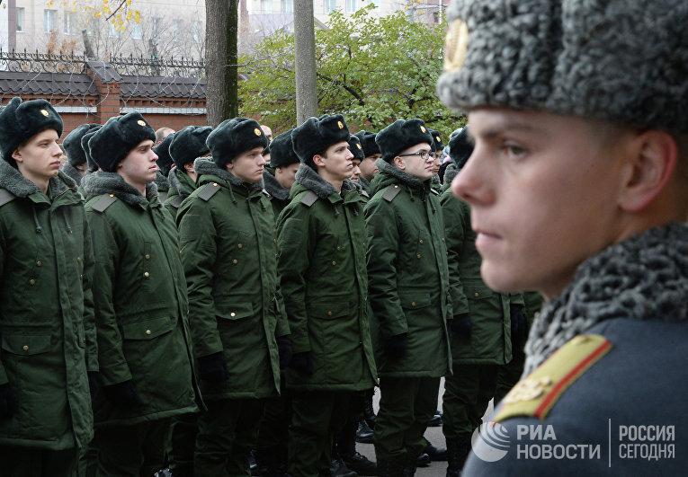 Отправка призывников в комендантский Преображенский полк