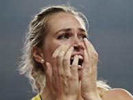 Спортсменка из Австралии Келси-ли Барбер на чемпионате мира по легкой атлетике в Дохе