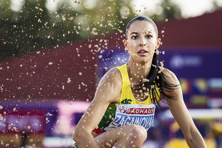 Литовская легкоатлетка, специализирующаяся в прыжках в длину Диана Загайнова