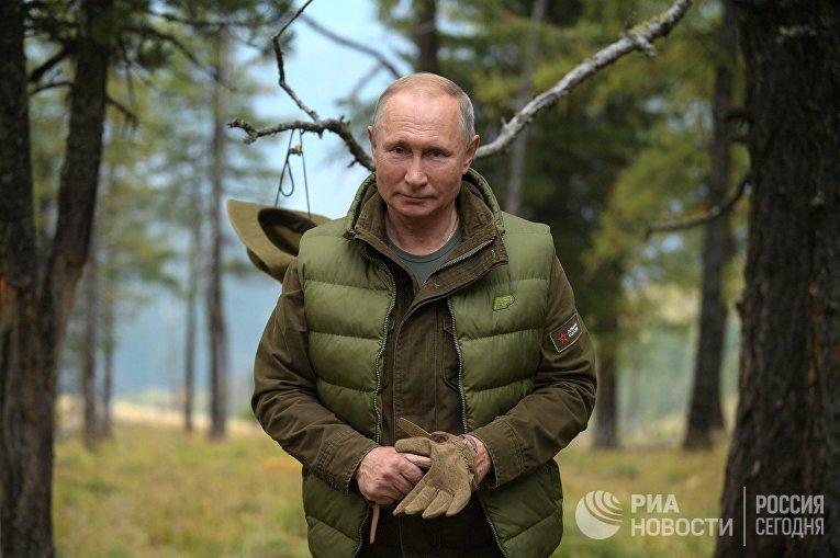 Отдых президента РФ В. Путина в Сибири
