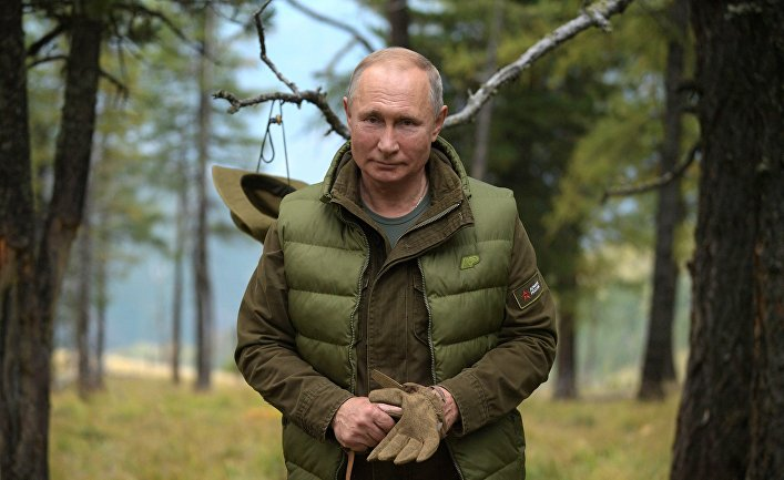 Отдых президента РФ В. Путина в Сибири | © РИА Новости, Алексей Дружинин