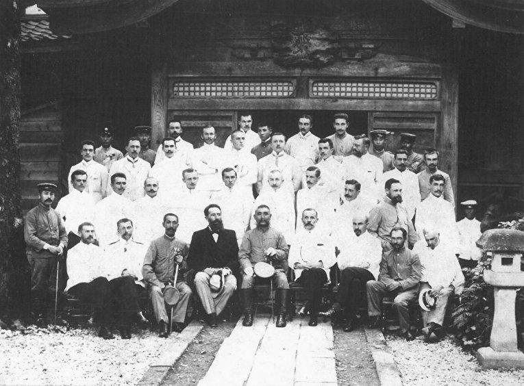 Российские военнопленные в г. Канадзава (Япония) в июне 1905 года