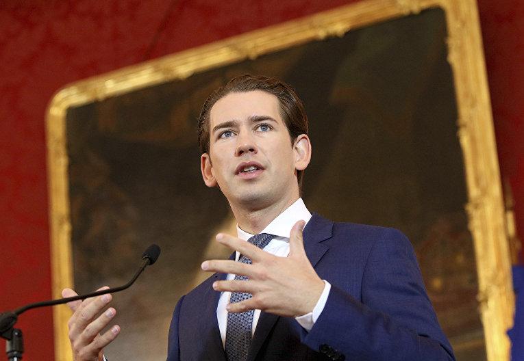 Глава Австрийской народной партии Себастьян Курц
