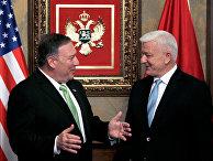 Госсекретарь США Майк Помпео и премьер-министр Черногории Душко Марковичем