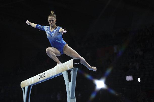 Выступление российской гимнастки Лилии Ахаимовой
