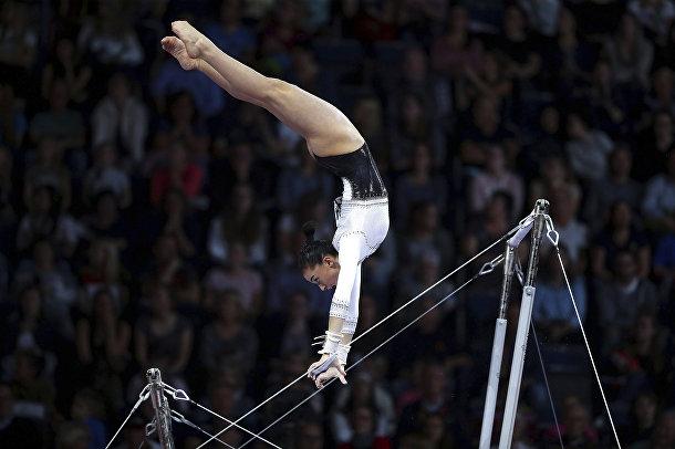 Выступление итальянской гимнастки Джорджии Виллы