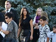 Американская звезда Ким Кардашьян в Армении