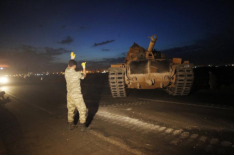 Передислокация турецких войск у границы с Сирией