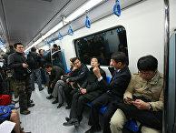 Пробный запуск первой очереди метрополитена в Алма-Ате