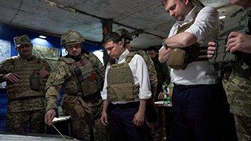 Владимир Зеленский побывал на передовой в зоне проведения ООС