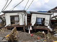"Последствия тайфуна ""Хагибис"" в Нагано, Япония"
