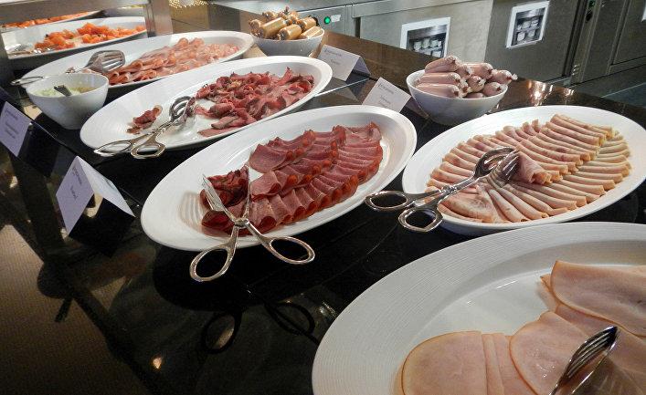 Завтрак в отеле InterContinental в Давосе