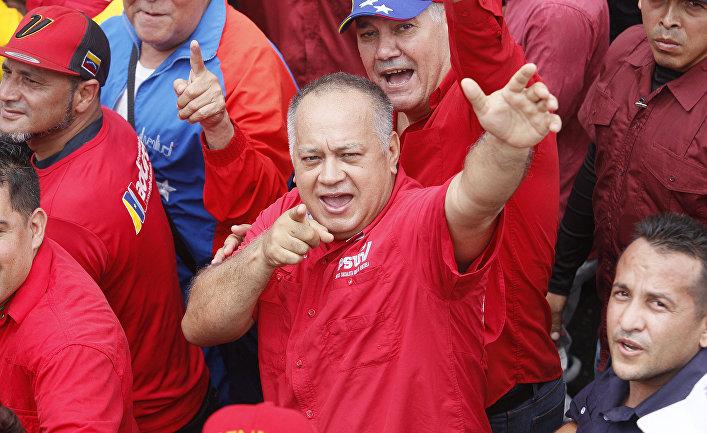 Председатель учредительного собрания Венесуэлы Диосдадо Кабельо