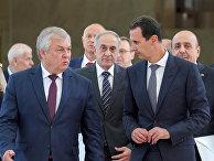 15 сентября 2019 года. Президент Сирии Башар Асад и специальный представитель РФ по Сирии Александр Лаврентьев во время встеречи в Дамаске