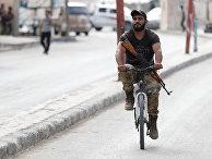 Солдат сирийских сил, объединившихся с Турцией