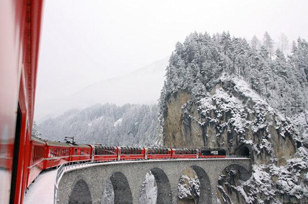 Поезд в Австрии