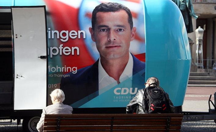Майк Моринг, главный кандидат от ХДС на выборах в Тюрингию, Германия