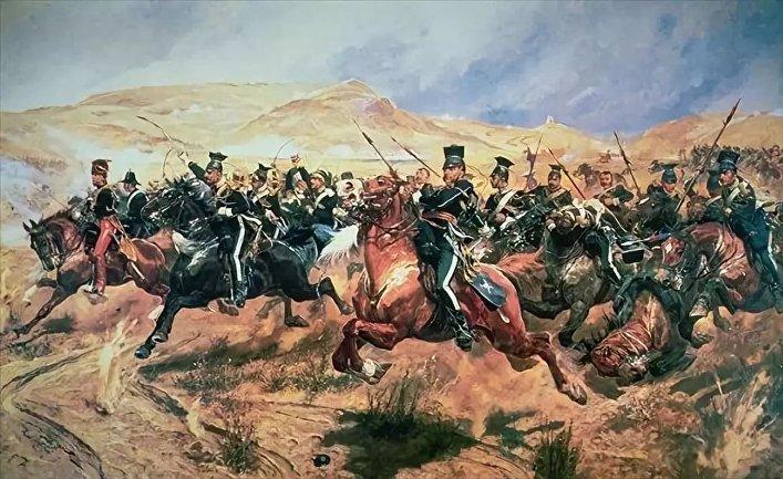 Ричард Кейтон Вудвиль. «Атака легкой бригады», 1897 год